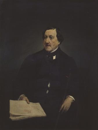 Portrait of the Composer Gioachino Antonio Rossini (1792-186) by Francesco Hayez