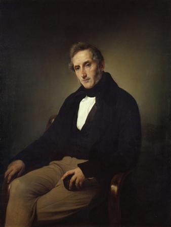 Portrait of the Poet Alessandro Manzoni (1785-187) by Francesco Hayez