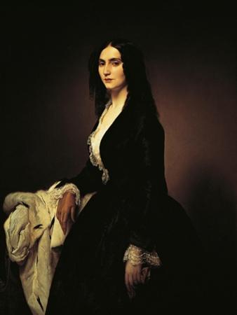 Portrait of the Singer Matilde Juva Branca by Francesco Hayez