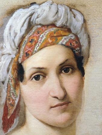 Portrait of Wife Vincenza Scaccia by Francesco Hayez