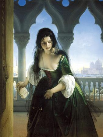 Secret Accusation, 1847-1848 by Francesco Hayez