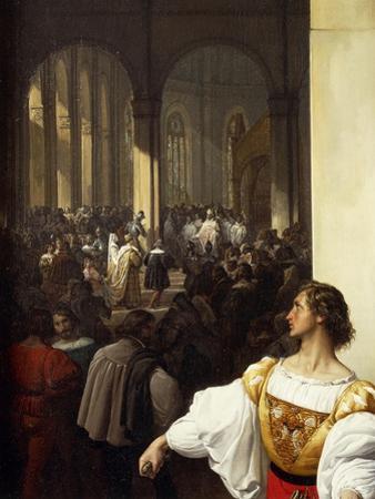 The Conspiracy of Lampugnani, 1826-1829 by Francesco Hayez