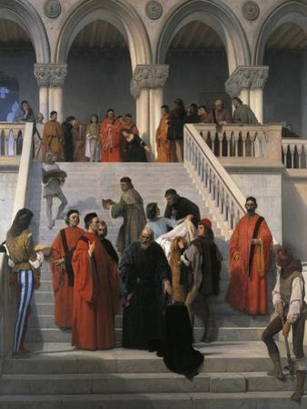 The Last Moments of Doge Marin Faliero by Francesco Hayez