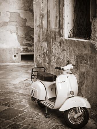 Italy, Apulia, Lecce District, Salentine Peninsula, Salento, Lecce, Vespa Scooter