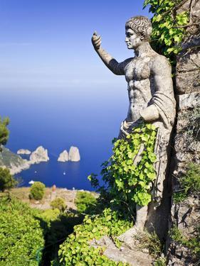 Italy, Campania, Napoli District, Anacapri, Solaro Mount, the Statue of Emperor Augustus, View from by Francesco Iacobelli