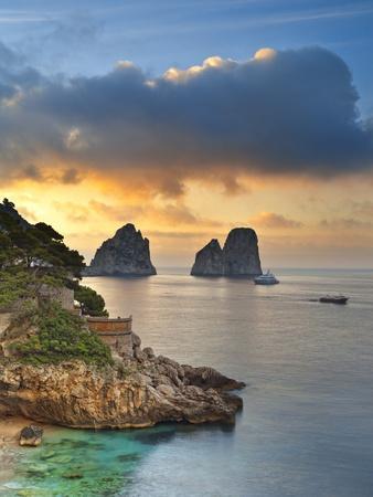 Italy, Campania, Napoli District, Capri, Faraglioni