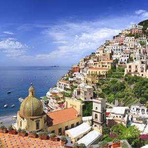Italy, Campania, Salerno District, Peninsula of Sorrento, Positano, Santa Maria Assunta Church View by Francesco Iacobelli