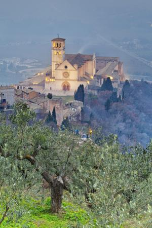 Italy, Umbria, Perugia District, Assisi, Basilica of San Francesco. by Francesco Iacobelli
