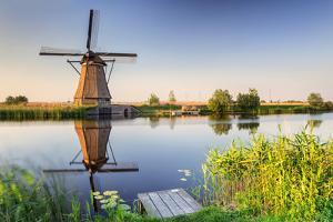 Netherlands, South Holland, Kinderdijk. Windmills by Francesco Iacobelli