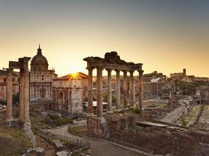 Roman Forum, Rome, Lazio, Italy, Europe by Francesco Iacobelli