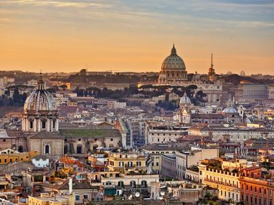 View from the Top of Vittoriano, Rome, Lazio, Italy, Europe