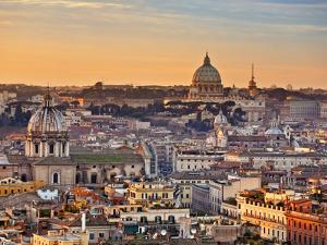 View from the Top of Vittoriano, Rome, Lazio, Italy, Europe by Francesco Iacobelli
