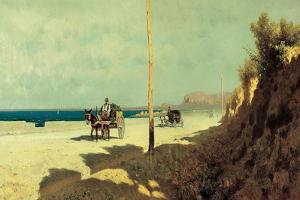 Summer in Sicily. Palermo, Via Romagnolo, 1872 by Francesco Lojacono