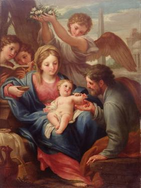 Madonna and Child with St. Joseph, or the Rest on the Flight into Egypt by Francesco Mancini