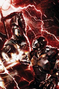 War Machine No.3 Cover: War Machine and Ares by Francesco Mattina