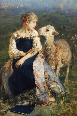 Shepherdess or Girl with a Goat