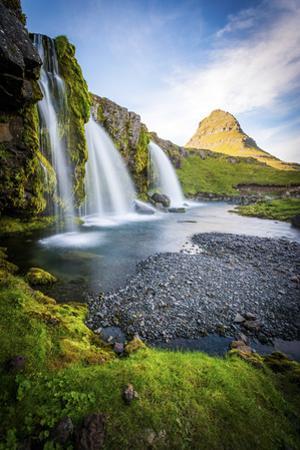 Kirkjufell Mountain, Snaefellsnes Peninsula, Iceland. Landscape with Waterfalls by Francesco Riccardo Iacomino