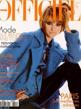 L'Officiel, June 1995 - Claudia Schiffer by Francesco Scavullo