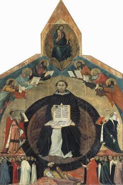Apotheosis of St Thomas Aquinas by Francesco Traini