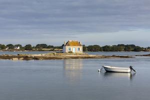 Boat in front of Saint-Cado isle, Quiberon, Morbihan, Brittany, France, Europe by Francesco Vaninetti