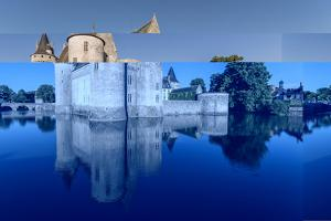 Castle and its moat, Sully-sur-Loire, UNESCO World Heritage Site, Loiret, Centre, France, Europe by Francesco Vaninetti