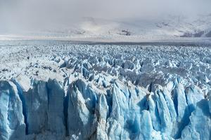 Close up on the ice of Perito Moreno glacier, Los Glaciares National Park, Santa Cruz, Argentina by Francesco Vaninetti