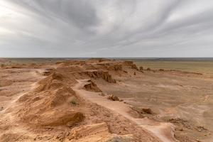 Flaming cliffs, Bajanzag, South Gobi province, Mongolia, Central Asia, Asia by Francesco Vaninetti