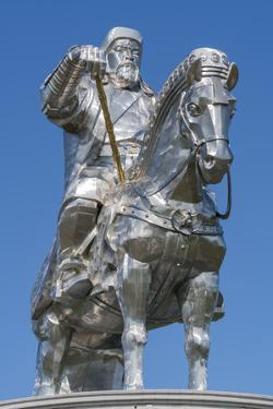 Genghis Khan equestrian statue, Erdene, Tov province, Mongolia, Central Asia, Asia by Francesco Vaninetti