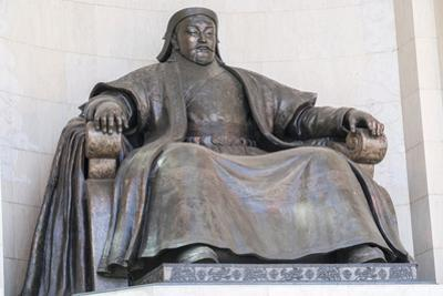 Genghis Khan statue at the Government Palace, Ulan Bator, Mongolia, Central Asia, Asia by Francesco Vaninetti