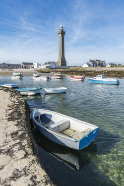 Lighthouse with pier and boats, Penmarch, Finistere, Brittany, France, Europe by Francesco Vaninetti