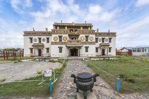 Main temple in Erdene Zuu Buddhist Monastery, Harhorin, South Hangay province, Mongolia, Central As by Francesco Vaninetti