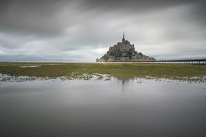 Mont-St-Michel, UNESCO World Heritage Site, Normandy, France, Europe by Francesco Vaninetti