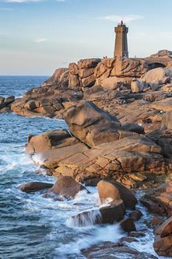 Ploumanach lighthouse, Perros-Guirec, Cotes-d'Armor, Brittany, France, Europe by Francesco Vaninetti