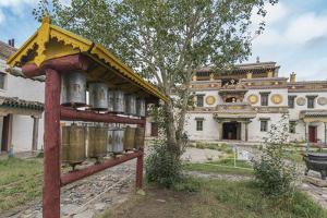 Prayer wheels in the gardens of Erdene Zuu Buddhist Monastery, Harhorin, South Hangay province, Mon by Francesco Vaninetti