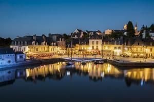 Saint-Goustan port at blue hour, Auray, Morbihan, Brittany, France, Europe by Francesco Vaninetti