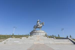Stairs to Genghis Khan Statue Complex, Erdene, Tov province, Mongolia, Central Asia, Asia by Francesco Vaninetti