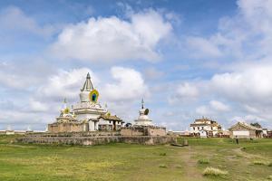 Stupas and buildings in Erdene Zuu Monastery, Harhorin, South Hangay province, Mongolia, Central As by Francesco Vaninetti