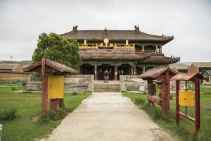 Temple in Amarbayasgalant Monastery, Mount Buren-Khaan, Baruunburen district, Selenge province, Mon by Francesco Vaninetti