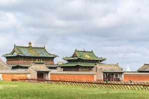 Temples in Erdene Zuu Monastery, Harhorin, South Hangay province, Mongolia, Central Asia, Asia by Francesco Vaninetti