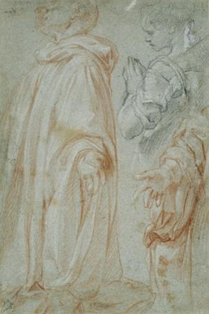 Three Studies for the Resurrected Christ Adored by a Female Saint and San Silvestro Gozzalini, 1607