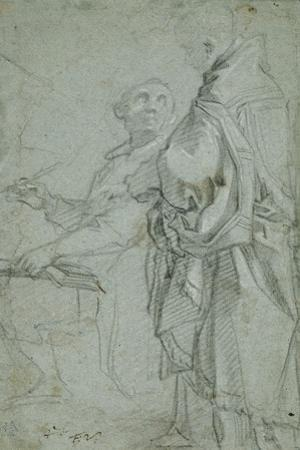 Two Ecclesiastics: Study for the Disputation on the Holy Sacrament, 1606-10