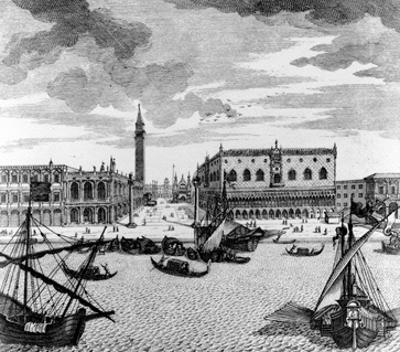 View of St. Mark's Square from the Lagoon, Venice (Engraving)