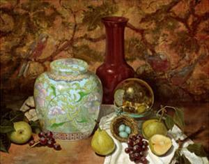 Ginger Jar with Bird Nest by Francie Botke