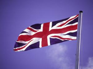 British Flag Flying on a Pole by Francie Manning