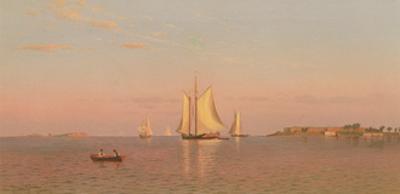 View of Boston Harbour Near Castle Island, 1872