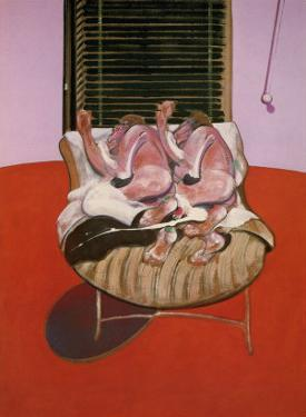 Two Figures Lying on a Bed with Attendants, c.1968 (detail) by Francis Bacon