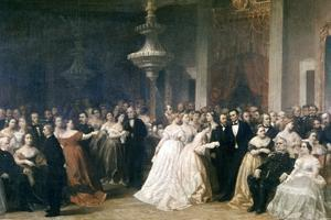 A Lincoln Reception at the White House, 1863 by Francis Bicknell Carpenter