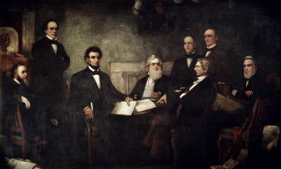 The First Reading of the Emancipation Proclamation by Francis Bicknell Carpenter