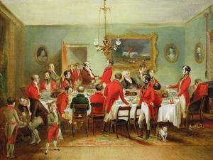 The Hunt Breakfast, Bachelor's Hall, 1836 by Francis Calcraft Turner