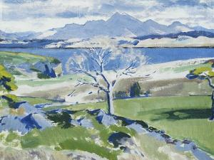 Ben Cruachan from Achnacraig, Mull by Francis Campbell Cadell